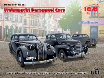 Wehrmacht Personnel Cars (Kadett K38 Salo Kapitan Saloon,Admiral Saloon) · ICM DS3504 ·  ICM · 1:35