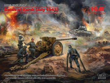 Battle of Kursk (July 1943) (T-34-76 (early 1943),Pak 36(r ) with Crew(4 figures)) · ICM DS3505 ·  ICM · 1:35
