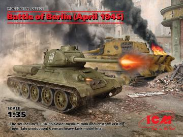 Battle of Berlin (April 1945) (T-34-85, King Tiger) · ICM DS3506 ·  ICM · 1:35
