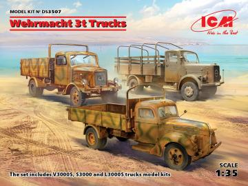 Wehrmacht 3t Trucks (V3000S, KHD S3000, L3000S) · ICM DS3507 ·  ICM · 1:35