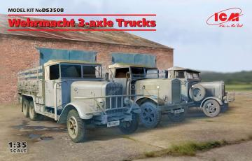 Wehrmacht 3-axle Trucks (Henschel 33D1, Krupp L3H163, LG3000) · ICM DS3508 ·  ICM · 1:35