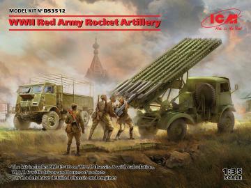 WWII Red Army Rocket Artillery (BM-13-16MLRS Crew, RKKA Driver) · ICM DS3512 ·  ICM · 1:35