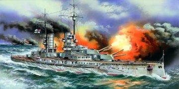 WWI Deutsches Schlachtschiff Markgraff · ICM S005 ·  ICM · 1:350