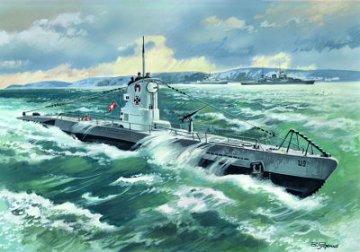 WWII deutsches U-Boot Typ IIB, 1939 · ICM S009 ·  ICM · 1:144
