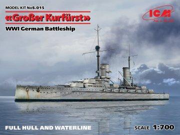 Großer Kurfürst (Full hull & Waterline) WWI German Battleship · ICM S015 ·  ICM · 1:700