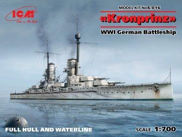 Kronprinz fullhull & waterline WWI German Battleship · ICM S016 ·  ICM · 1:700