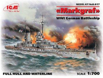 Markgraf (full hull & waterline) WWI German Battleship · ICM S017 ·  ICM · 1:700