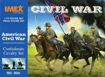 Sezessionskrieg: Konföderierten-Kavallerie. · IM 504 ·  Imex · 1:72