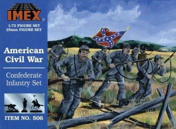 Sezessionskrieg: Konföderierten-Infanterie · IM 506 ·  Imex · 1:72