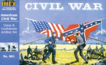 Sezessionskrieg: Set mit Unions- und Konföderierten- Artillerie · IM 601 ·  Imex · 1:72