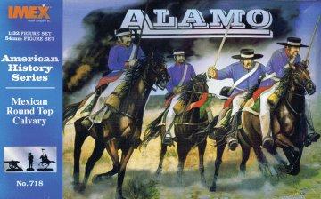 Amerikanische Geschichte: Mexikanische Rundhut-Kavallerie vor Alamo · IM 718 ·  Imex · 1:32