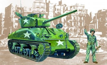 Sherman M4 A1 · IT 0225 ·  Italeri · 1:35