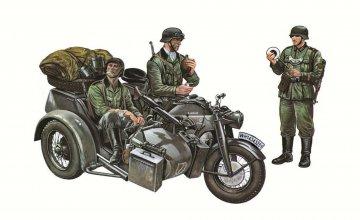 Motorrad-Gespann Zündapp KS750 · IT 0317 ·  Italeri · 1:35