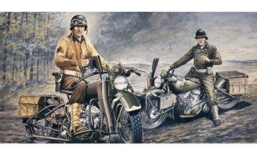 U.S. Motorräder WWII · IT 0322 ·  Italeri · 1:35