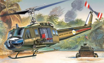 UH-1D SLICK · IT 1247 ·  Italeri · 1:72