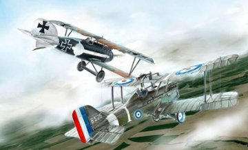 S.E.5a and Albatros D.III (WWI) · IT 1374 ·  Italeri · 1:72