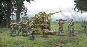 8.8cm Flak 37 with crew (7 Figuren) · IT 15771 ·  Italeri · 1:56