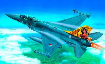 F-16 Fighting Falcon · IT 2654 ·  Italeri · 1:48