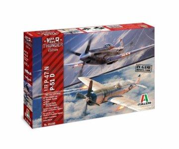P47 N / P51 D - War Thunder · IT 35102 ·  Italeri · 1:72