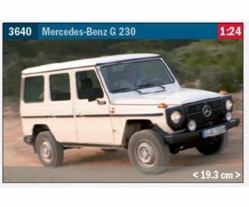Mercedes Benz G 230 · IT 3640 ·  Italeri · 1:24