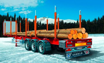 Timber Trailer / Logger Trailer · IT 3868 ·  Italeri · 1:24