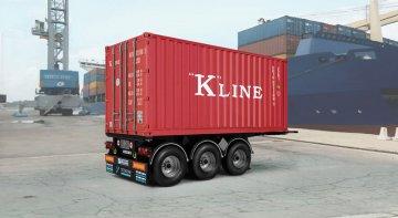 20´ Container Trailer · IT 3887 ·  Italeri · 1:24