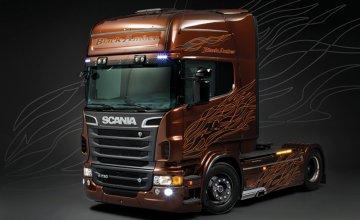 Scania R730 V8 Black Amber · IT 3897 ·  Italeri · 1:24