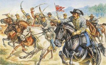 Konföderierten Kavallerie · IT 6011 ·  Italeri · 1:72