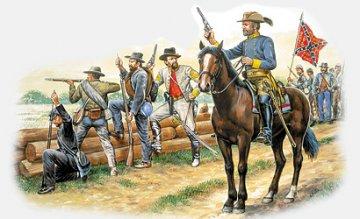 Confederate Infantry · IT 6014 ·  Italeri · 1:72