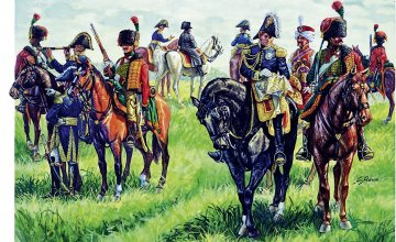 French Imperial General Staff (1815) · IT 6016 ·  Italeri · 1:72
