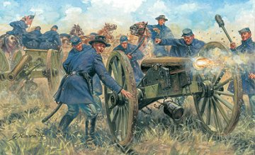 American Civil War Union Artillery · IT 6038 ·  Italeri · 1:72