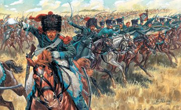 French Light Cavalry, Napoleonic Wars · IT 6080 ·  Italeri · 1:72