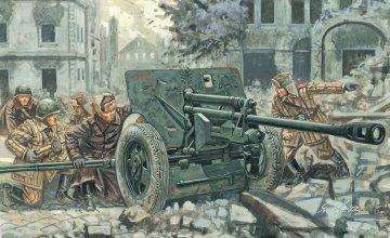 Rus. ZIS 3 Kanone mit Figuren · IT 6097 ·  Italeri · 1:72