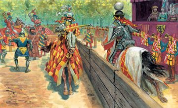 Tournament Accessoires w. Knights · IT 6108 ·  Italeri · 1:72