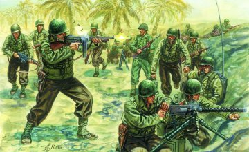 WWII Amerikanische Infanterie · IT 6120 ·  Italeri · 1:72