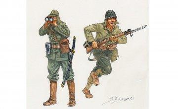 WWII Japanische Infanterie · IT 6170 ·  Italeri · 1:72