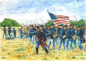Union Infantry (American Civil War) · IT 6177 ·  Italeri · 1:72