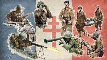 French Infantry (WW II) · IT 6189 ·  Italeri · 1:72