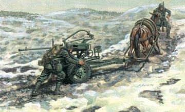 Horse Drawn Breda 20 · IT 6464 ·  Italeri · 1:35