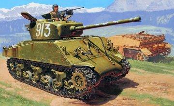 US 76 mm ´Wet´ Sherman · IT 6483 ·  Italeri · 1:35