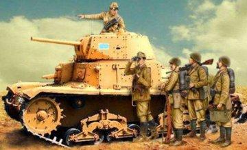 M14/41 with Italian Infantry · IT 6543 ·  Italeri · 1:35