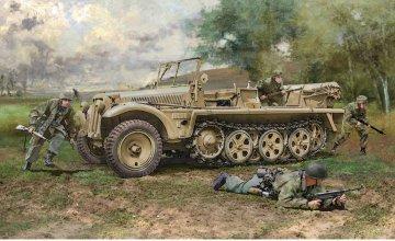 Sd.Kfz.10 Demag D7 w/German Paratroppers · IT 6561 ·  Italeri · 1:35