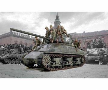M4A1 Sherman with U.S. Infantry (7 Figuren) · IT 6568 ·  Italeri · 1:35