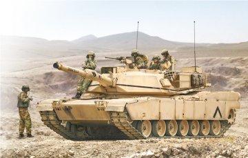 M1 Abrams m. Crew (5) · IT 6571 ·  Italeri · 1:35