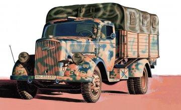 Kfz. 305 3 Tons Medium Truck · IT 6606 ·  Italeri · 1:48