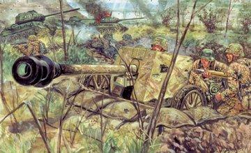 2nd WW Russian Soldiers and ZIS3 Gun · IT 6880 ·  Italeri · 1:32