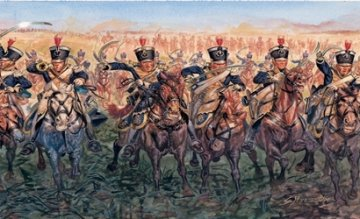Napoleonic wars - British Light Cavalry 1815 · IT 6885 ·  Italeri · 1:32