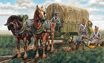 French Supply Wagon Napoleonic Wars · IT 6886 ·  Italeri · 1:32