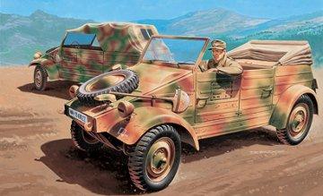 2 x VW Kdf. 1 Typ 82 Kuebelwagen · IT 7024 ·  Italeri · 1:72