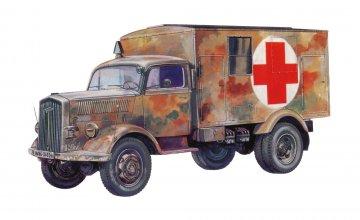Sd.Kfz.305 Rettungswagen · IT 7055 ·  Italeri · 1:72